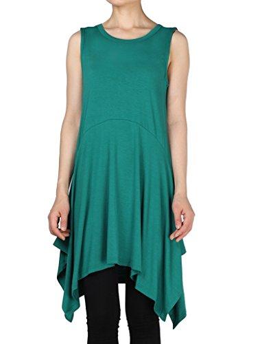 Vogstyle Donna Nuovo Top Senza Maniche Camicia Vestito Con Irregolare Borders Taglia 12 Colori S-4XL Verde