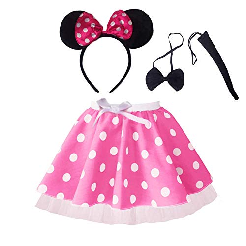 Minnie Maus Schwanz - Minnie Maus Tutu Rock mit Stirnband,