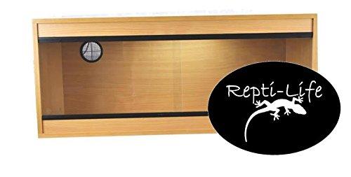 Repti-Life 36x15x15 Inch Vivarium Flatpacked In Beech, 3ft Viv