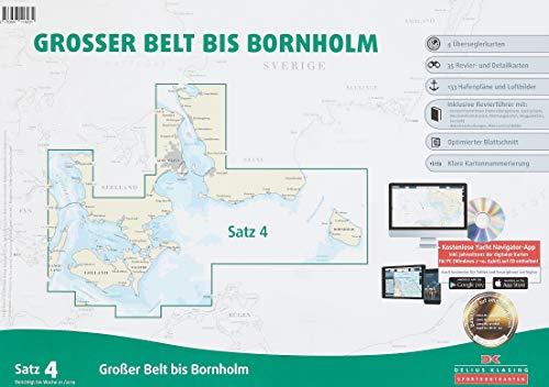 Preisvergleich Produktbild Sportbootkarten Satz 4: Großer Belt bis Bornholm (Ausgabe 2019)