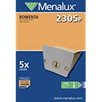 Menalux 2305 P - Bolsas de papel para aspiradoras Rowenta (5 unidades)