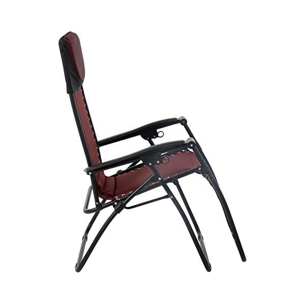 Azuma Padded Zero Gravity Chair - Dark Red