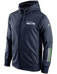 Nike Seattle Seahawks Circuit Fz Hoodie - Sudadera para hombre, color azul, talla L