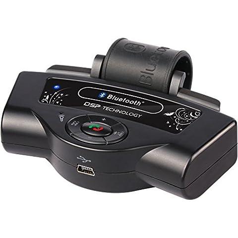 Eximtrade Auto Coche Volante Bluetooth Control Remoto Manos Libres MP3 Música Altavoz Micrófono para Apple iPhone 4/4s/5/5s/6/6s/6 Plus/6s Plus, Samsung Galaxy S4/S5/S6/S6 Edge/S6 Edge Plus/Note 3/Note 4/Note 5, HTC One, Motorola, Sony Xperia, otro Smartphones y tablets
