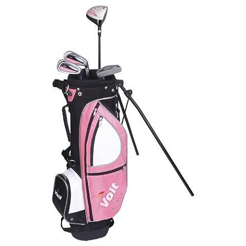 Voit XP Junior Golf-Set für Mädchen ab 8–12Schläger & Pink Stand Bag (Titan Golf Clubs)
