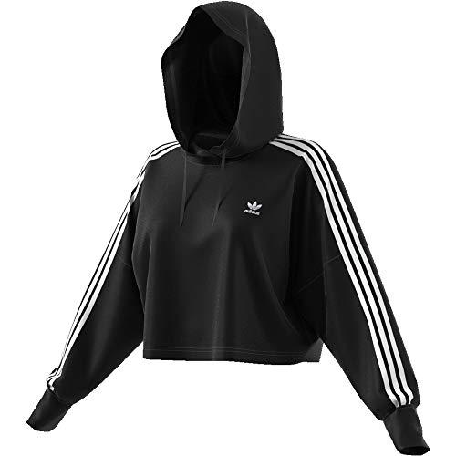 adidas Damen Cropped Hoody, Black, 36 3 Pullover Hoodies
