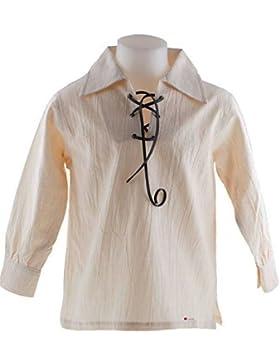 I Luv LTD Kids Scottish Ghillie Shirt In Natural Colour