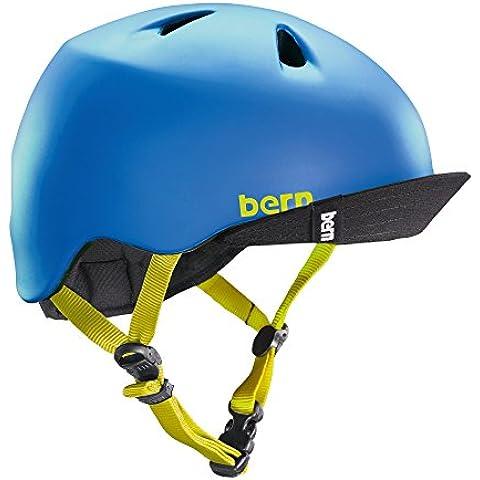 Bern Nina-Casco, Niños unisex, color Azul - Blue - Matt Bleu, tamaño Taille XS-S - 48-51,5