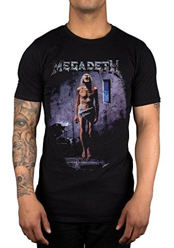 Camiseta oficial con diseño de banda de metal pesado Megadeth...