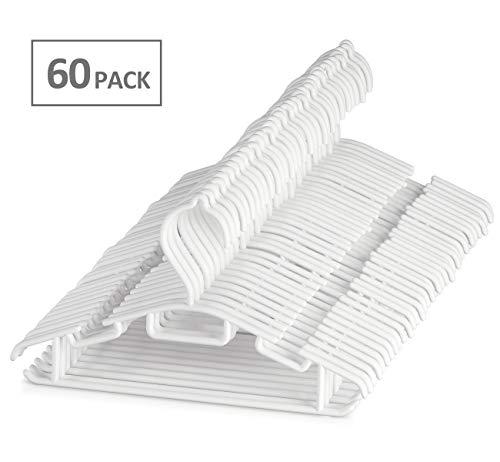 Kinderkleiderbügel Kleiderbügel Kinder Babykleiderbügel Baby 60Stk ilauke Länge 30cm Kunststoff Hangers Aufbewahrung für Kleiderschrank Schrank Kleidung in Weiß -
