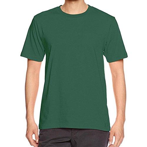 Männer T-Shirt Kurzarm, CICIYONER Männer Junge Plus Size Solid Tees Kurzarm Baumwolle T-Shirt Bluse Tops (XL, Grün) (Tee-kleid Viktorianische)