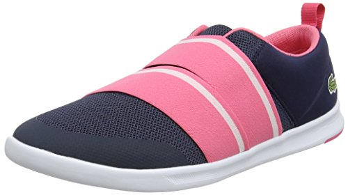Lacoste Damen Avenir Slip 118 1 SPW Sneaker, Blau (NVY/pnk), 37 EU