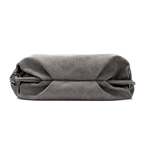 Damen Canvas Handtasche / Umhängetasche groß, Canvas Schultertasche Hobo Bags für Schule Büro Reise Shopping Beige