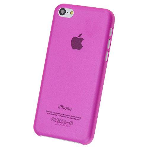 doupi UltraSlim Case für Apple iPhone 5C FeinMatt FederLeicht Hülle Bumper Cover Schutz Tasche Schale, blau Pink