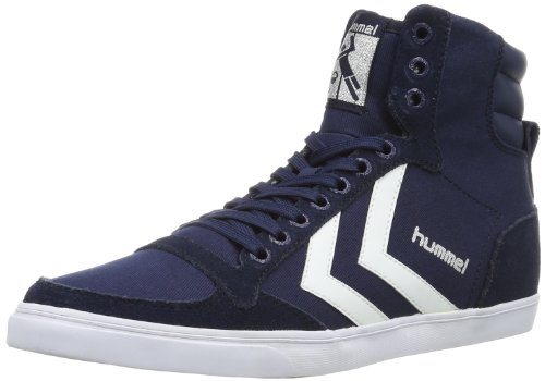 hummel HUMMEL SLIMMER STADIL HIGH, Unisex-Erwachsene Hohe Sneakers, Blau (Dress Blue/White KH), 47 EU (12 Erwachsene UK)