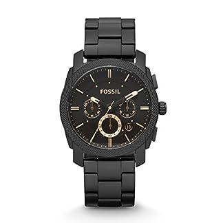 Fossil-Herrenuhr-Machine-schwarzgold-Analoge-robuste-Chronographen-Uhr-mit-groem-Ziffernblatt-Datumsanzeige-wechselbarem-Edelstahl-Armband-im-zeitlosen-Industrial-Look