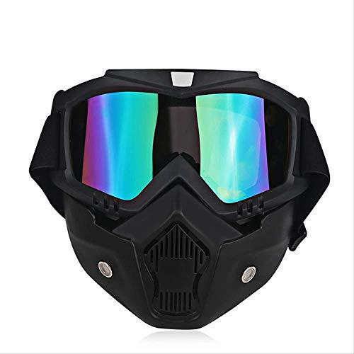 XYQY brille Ski Bike Motorrad Gesichtsmaske Brille Motorrad Motor Offenes Gesicht Abnehmbare Brille Helme Vintage Brille UniversalModell 5