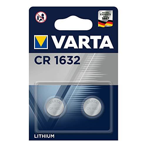 VARTA Batterien Electronics CR1632 Lithium Knopfzellen (2er Pack, in Original Blisterverpackung)