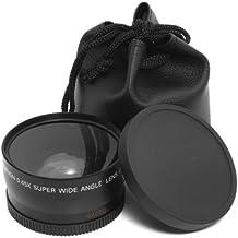XCSOURCE Objetivo Macro y Gran Angular 0,45x 58mm + pochette-housse negra gran angular para Canon 1DX 5d mark 5D25D36d 7d 70d 60d 700d 650d 1100d 1000d 600d 50d 550d 500d 40d 30d 350d 400d 450d 30d 10d Neuf LF37