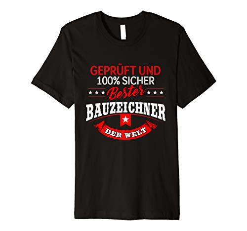 Herren Bester Bauzeichner - Bau & Baupläne Geschenk T-Shirt