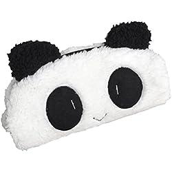 Estuche, diseño de oso panda de peluche (saihui Cute Kawaii 3d gran capacidad Escuela Suministros de la novedad tema para niños, color blanco