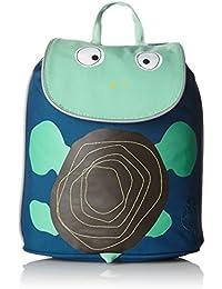 Lassig 4Kids Mini Duffle Backpack, Wildlife Turtle/Green