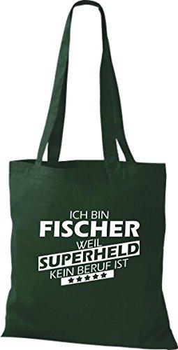 Tote Bag Shirtstown Sono Un Pescatore Perché Il Supereroe Non È Verde