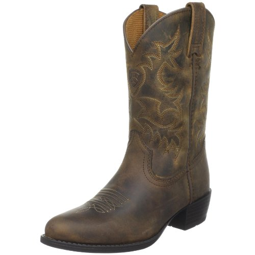 Kids' Heritage Western Boot (Toddler/Little Kid/Big Kid),Distressed Brown,1 M US Little Kid (Cowboy Stiefel Distressed Braun)