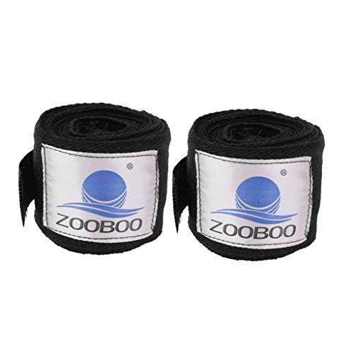 Preisvergleich Produktbild 2pcs 3m Boxing Boxbandagen Verband Stanzhandpackung Trainingshandschuhe Schwarz