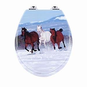 Abattant wC abattant chevaux abattant wC avec système d'abaissement automatique