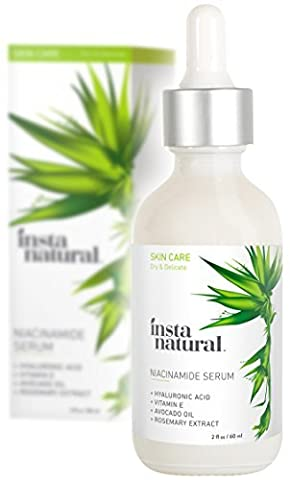 InstaNatural Niacinamide 5% Face Serum - Vitamin B3 Anti Aging Moisturizer for Skin - Diminishes Appearance of Acne, Breakouts, Wrinkles, Fine Lines, Dark Spots, Age Spots & Hyperpigmentation – 60