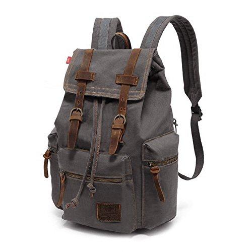 Imagen de bolsa de viaje, p.ku.vdsl unisex vintage , casual  bolsas,  escolar,  de senderismo,  para portátil, caminando  de lona alternativa