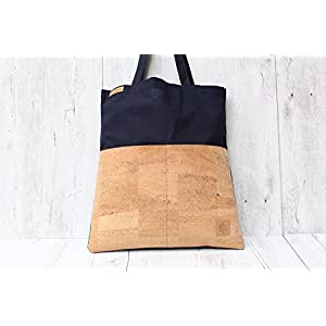 Shopper KORK marineblau sand VEGAN