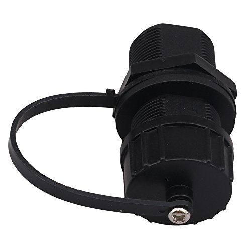 M20 schwarz Silikon RJ-45 Waterproof Outdoor gerader Kopf Seal Cover Connector -