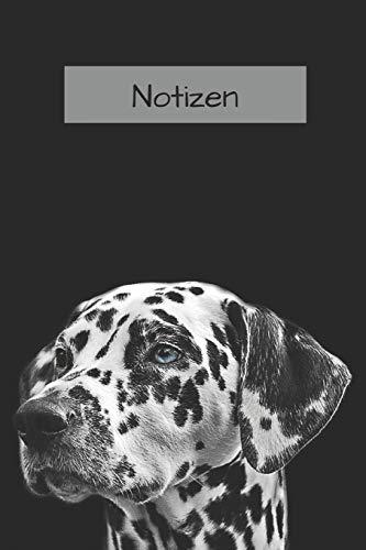 : Tagebuch / Notizbuch mit Dalmatiner Hund  A5+ 120 Seiten dotted (Punkteratser)   Geschenk für Hundefreunde ()