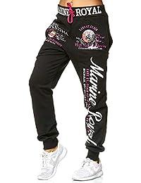 Violento Jogginghose Damen lang   Trainingshose 100% Baumwolle   Sporthose  mit Bündchen   Enger… 55805268fd