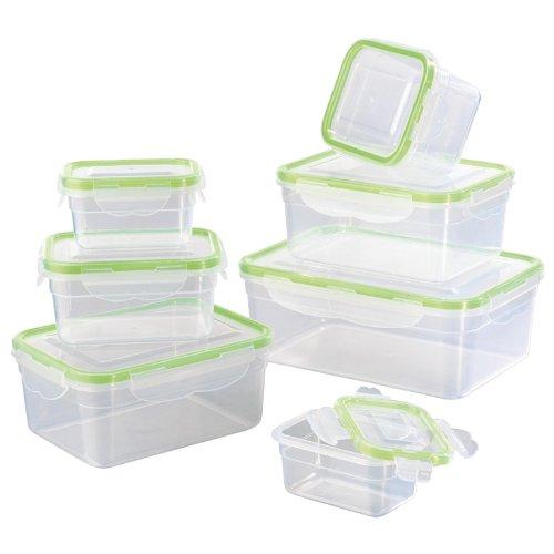 tv-top-sales-02628-maxxcuisine-klick-it-box-freshness-plastic-transparent-green-and-14-parts