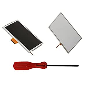 eJiasu Touch Screen Digitizer Glass Replacement Repair Part for Wii U Gamepad+1pc Tri-wing Screwdriver