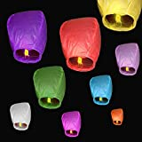 10 pcs Cielo Lanterns colores mixtos farolillos...