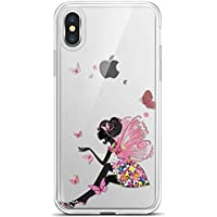 Felfy Okssud iPhone XS MAX Funda,Carcasa iPhone XS MAX Silicona Suave,Funda iPhone XS MAX Transparente,Pintado Patrón TPU Case.Chica