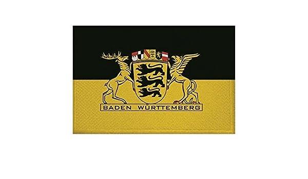 U24 Aufn/äher Baden-W/ürttemberg Landessiegel Fahne Flagge Aufb/ügler Patch 9 x 6 cm