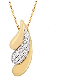 TBZ - The Original 18KT Gold and Diamond Pendant for Women