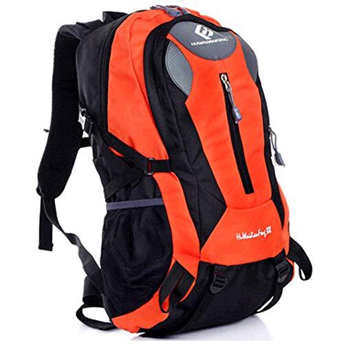 KD Wasserdichter Trekking Rucksack Outdoor Travel Rucksackreise Rucksäcke Herren-Und Damen Sport Outdoor-Bergsteiger Rucksack,Orange