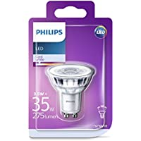 Philips LED Classic GU10 Glass Spot Light, Halogen Replacement, 3.5 W (35 W) - Cool White