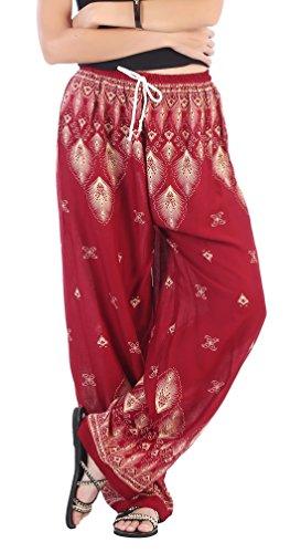 CandyHuskyDamen Hose, Tierdruck Floral 1 Red