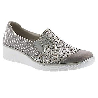 Rieker Womens Space Slip On Wedge Heeled Shoes 537W4-40 8 UK / 42 EU