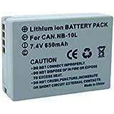 Batterie pour Canon Nb-10l, 800 Mah, 7.4v Conrad Energy