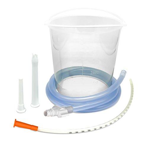 Irrigator Spritze (YOGAMEDIC Einlaufset für Darmeinlauf - 1,5l Irrigator Set inklusive 1,3m Schlauch, 3 verschiedenen Aufsätzen und Absperrhahn - Einlauf zur Darmreinigung - Enema Klistier für die innere Reinigung - Mit Zufriedenheitsgarantie - BPA Frei)