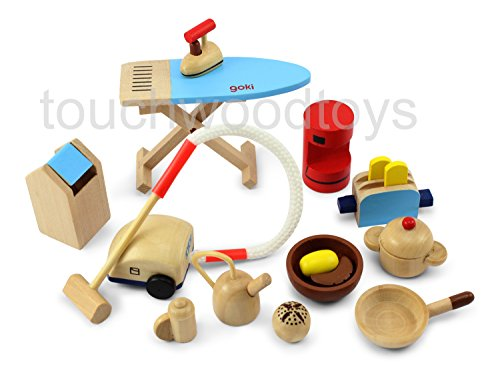 Dolls house kitchen accessories wooden dolls house, used for sale  Delivered anywhere in UK