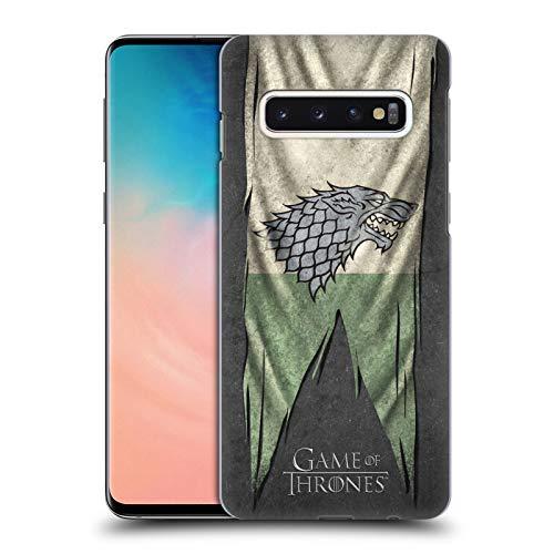 Head Case Designs Offizielle HBO Game of Thrones Stark Sigil Flags Harte Rueckseiten Huelle kompatibel mit Samsung Galaxy S10 Flag Case Zubehör